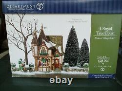 DEPT 56 DICKENS' Village 1 ROYAL TREE COURT NEW IN BOX
