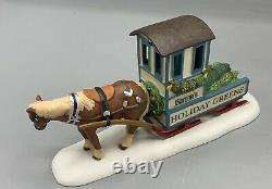 DEPT 56 Dickens Village BARTON'S HOLIDAY GREENS House And Horse & Sled