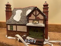 DEPT 56 Dickens Village FEZZIWIG'S BALLROOM GIFT SET withTrees & Figurine & Box
