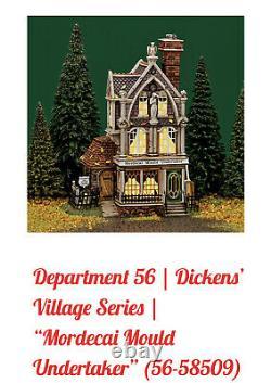 DEPT 56 HALLOWEEN- MORDECAI MOULD UNDERTAKER56.58509-NIB-Dickens Village