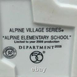 Department 56 Alpine Elementary School Christmas Village House Lighted Retired