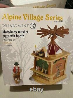 Department 56 Alpine Village Christmas Market Pyramid Booth 4028695 New RARE