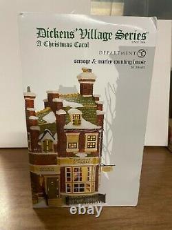 Department 56 Dicken's Village Christmas Carol Scrooge & Marley Counting House