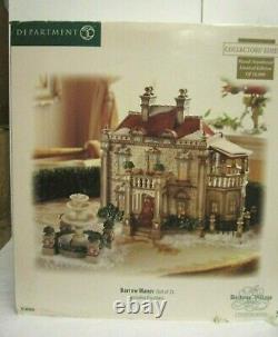 Department 56 Dickens' Village Barrow Manor Collectors Edition NIB 799909