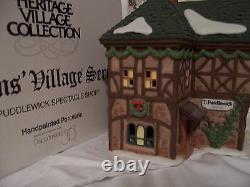Department 56 Dickens Village WRENBURY SHOPS SET of 3 #58331 MINT-RARE FIND
