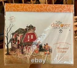 Department 56 Haunted Barn Gift Set, Halloween Village Brand New in plastic wrap
