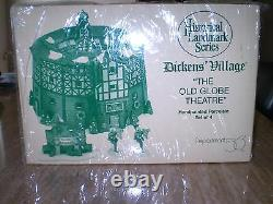 Department 56 Old Globe Theatre Set of 4 Historical Landmark Series