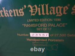 Dept56 DV RAMSFORD PALACE#58336 LmtEd. 1996 FREE Yoemen of The Guard Set 5 MINT