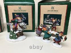 Dept 56 12 Days of Christmas Dickens Village 1-12 Complete Set With Sign
