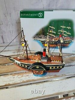 Dept 56 58591 HMS Britannia queens port ship boat RARE Dickens village Xmas