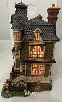 Dept 56 All Hallows Eve Barleycorn Manor Dickens Village Series Halloween Decor