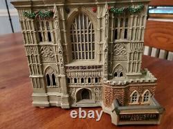 Dept 56 Christmas Dickens Village Westminster Abbey No Box Retired Rare