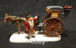 Dept 56 Dickens Village CHRISTMAS AT REGENT'S PARK HOUSE 805520 carriage EXCELLE