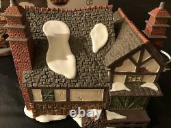 Dept 56 Dickens Village Fezziwigs Ballroom Gift Set With Snow And Trees