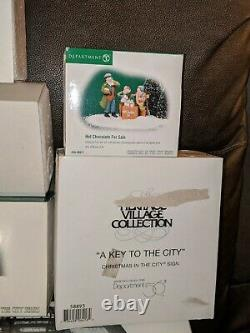 Dept. 56 Dickens Village Hand Painted Lot Of 5 Buildings & 9 Accessories