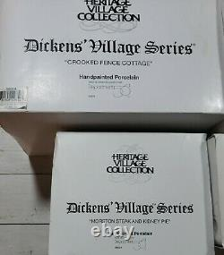Dept. 56 Dickens Village Hand Painted Lot Of 8 Buildings
