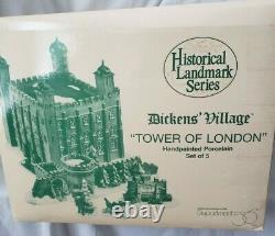 Dept 56 Dickens' Village Historical Landmark Lighted Series Tower Of London New