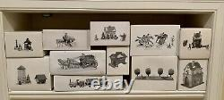 Dept. 56, Dickens Village, Lot of 97 including 40 Buildings & 57 Accessories