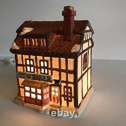 Dept 56 Dickens Village Original 7 Shops Complete Set w Boxes Christmas 1984