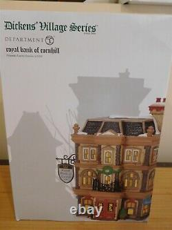 Dept 56 Dickens Village Royal Bank of Cornhill Limited Numbered Edition- NIB