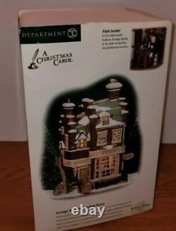 Dept 56 Dickens' Village Scrooge & Marley Counting House #56.58483 withScrooge
