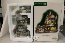 Dept 56 Dickens Village Series CHARLES DARBY PERFUMERY 58756 RARE Lights up NEW