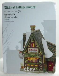 Dept 56 Dickens Village Series The Merry Fir Advent Wreaths Brand New