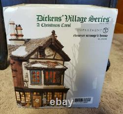 Dept 56 Dickens Village Series Xmas Carol Ebenezer Scrooges Lighted House with Box