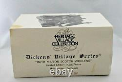 Dept 56 Heritagae Village Dickens Series Ruth Marion Scotch Woolens Rare Proof