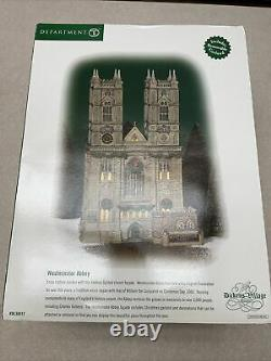 Dickens Village Department 56 Westminster Abbey Retired Excellent Condition