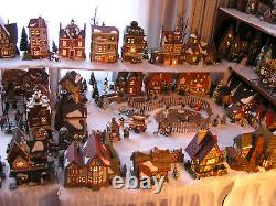 Huge Dickens Village Dept 56 Collection 62 Buildings + People, Scenery, Access