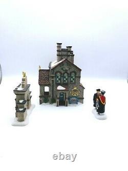 Lot Dept 56 Dickens Victorian University 58750 + Congratulations Graduate 58801