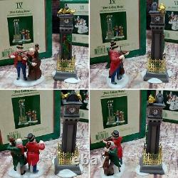Lot Of 5 Dept 56 Heritage Village Collection 12 Days Of Dickens 1, 2, 4, 6 & 8
