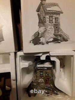 Lot of 3 DEPARTMENT 56 Dickens Village Maltings Old Michaelchurch Cobb Boxes