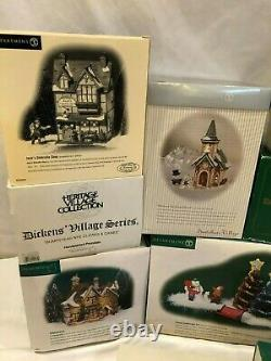 Lot of Dept 56 Collectibles Heritage Dickens Village Buildings, Accessories MORE