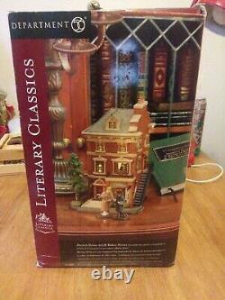 NEW DEPT 56 Literary Classics SHERLOCK HOLMES 221B BAKER STREET Dickens London