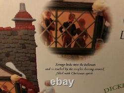 NEW! Dept 56 Dickens Village Fezziwigs Ballroom Gift Set With Snow And Trees