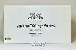NIB Dept. 56 SET Dickens' Village VICTORIA STATION with Heritage ACCESSORIES